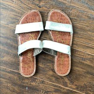 Silver Sam Edelman sandals